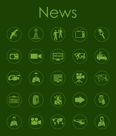 Set of news simple icons Stock Vector - 89142605