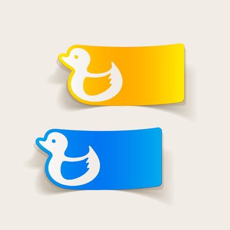 realistic design element: duck Illustration