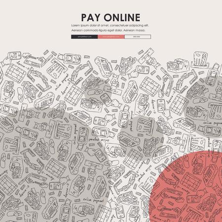 e-money Doodle Website Template Design