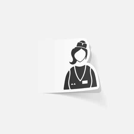 realistic design element. saleswoman Ilustração