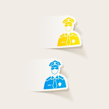 현실적인 디자인 요소입니다. 경찰관