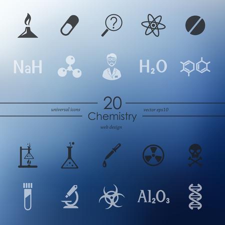 Set of chemistry icons Reklamní fotografie