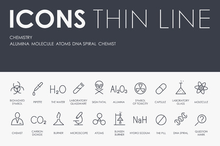 Set of Chemistry Icons