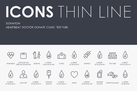 Donation Thin Line Icons