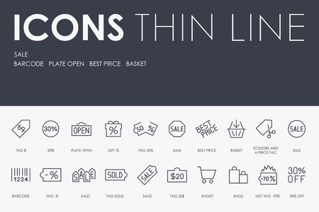SALE Thin Line Icons