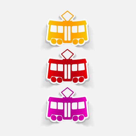 It is a realistic design element tram.