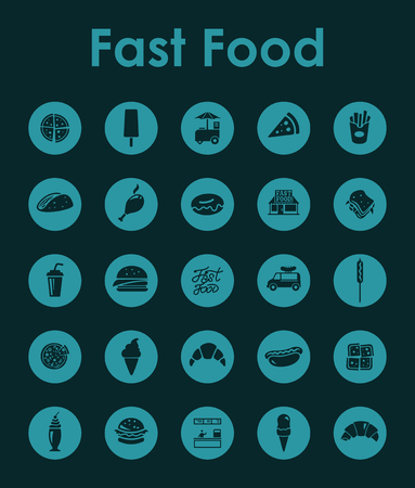 It is a set of fast food simple web icons. Imagens - 96207481
