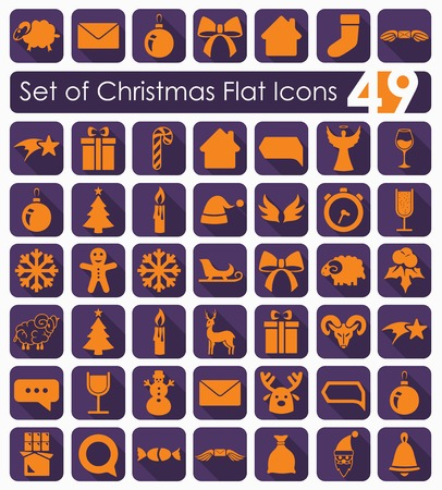 Set of Christmas icons Standard-Bild - 96611881