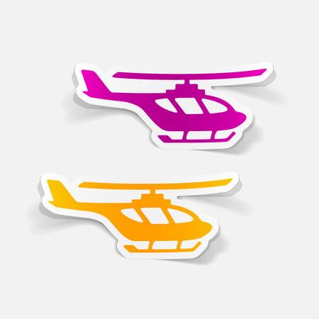 Realistic design element helicopter
