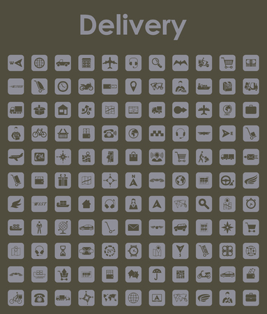 Set of delivery simple icons