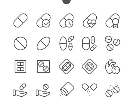 Medicine UI Pixel Well-crafted Vector Thin Line Icons.