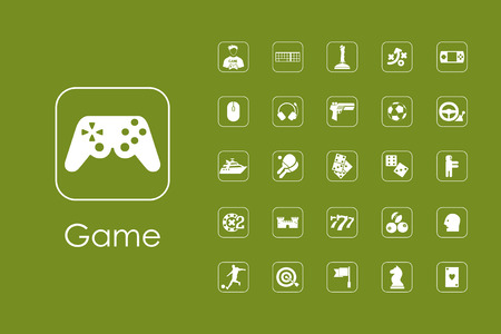 Set of gaming simple web icons Ilustrace