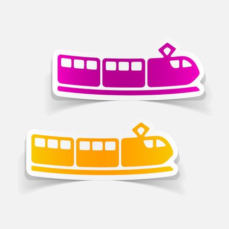 realistic design element of train.