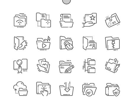 Les agents de forage perfect perfect icônes vectorielles de produits minces ligne 48x48 pour les graphiques web et les contours simple pictogramme comique Banque d'images - 97355780