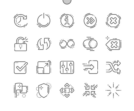 Controls Well-crafted Pixel Perfect Vector Thin Line Icons 30 2x Grid for Web Graphics and Apps. Simple Minimal Pictogram Stock Vector - 97355783