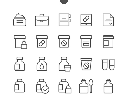 Medicine UI Pixel Perfect Well-crafted Vector Thin Line Icons 48x48 Ready for 24x24 Grid for Web Graphics and Apps with Editable Stroke. Simple Minimal Pictogram