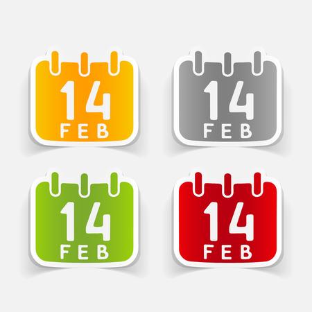 Realistic design element Valentine 向量圖像