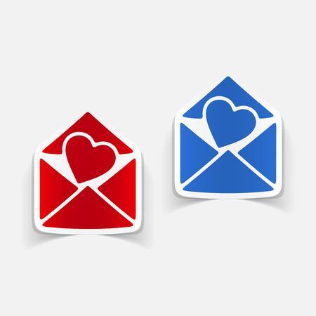 Realistic design element heart