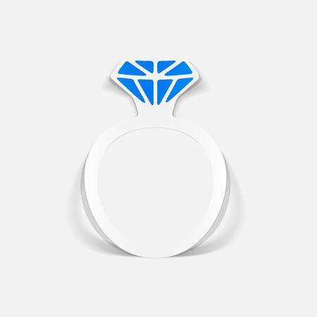 Realistic design element ring