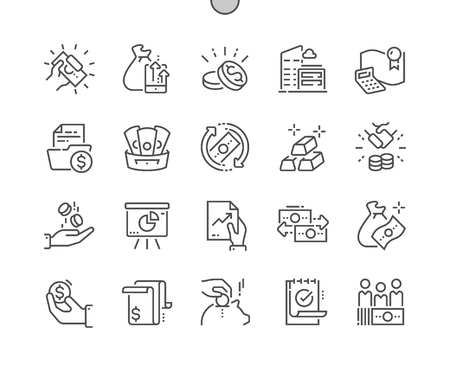 Finance Well-crafted Pixel Perfect Vector Thin Line Icons 30 2x Grid for Web Graphics and Apps. Simple Minimal Pictogram Illustration