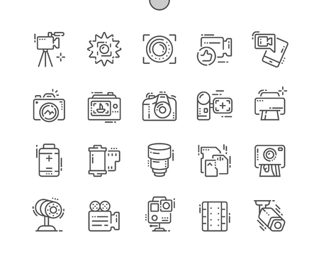 Camera Well-crafted Pixel Perfect Vector Thin Line Icons 30 2x Grid for Web Graphics and Apps. Simple Minimal Pictogram