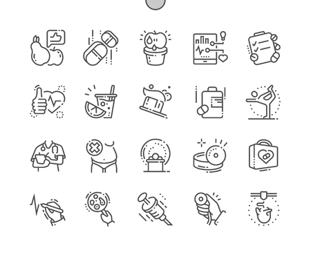 Health Well-crafted Pixel Perfect Vector Thin Line Icons 30 2x Grid for Web Graphics and Apps. Simple Minimal Pictogram