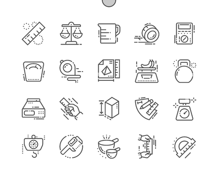Measure Well-crafted Pixel Perfect Vector Thin Line Icons 30 2x Grid for Web Graphics and Apps. Simple Minimal Pictogram