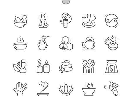 Alternative Medizin Gut ausgearbeitete Pixel Perfect Vektor-Icons mit dünnen Linien 30 2x Raster für Webgrafiken und Apps. Einfaches minimales Piktogramm