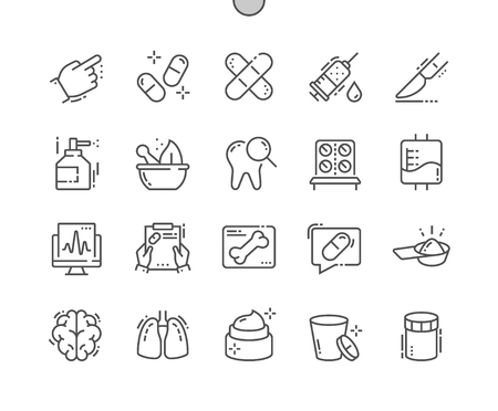 Medical Well-crafted Pixel Perfect Vector Thin Line Icons 30 2x Grid for Web Graphics and Apps. Simple Minimal Pictogram Illusztráció