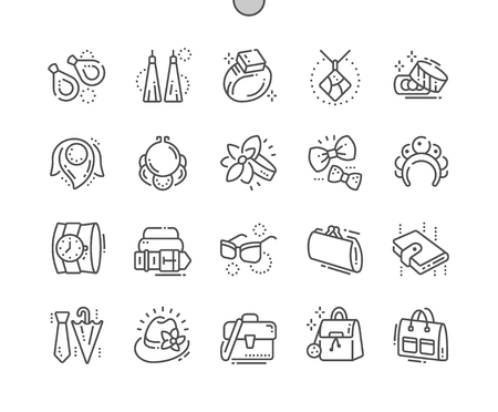 Accessories Well-crafted Pixel Perfect Vector Thin Line Icons 30 2x Grid for Web Graphics and Apps. Simple Minimal Pictogram Ilustração