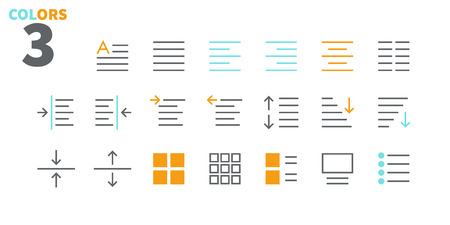 Edit text Pixel Perfect Well-crafted Vector Thin Line Icons 48x48 Ready for 24x24 Grid for Web Graphics and Apps with Editable Stroke. Simple Minimal Pictogram Part Ilustracja