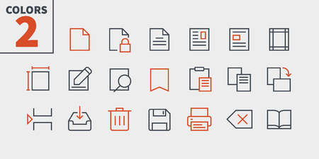 Edit text Pixel Perfect Well-crafted Vector Thin Line Icons 48x48 Ready for 24x24 Grid for Web Graphics and Apps with Editable Stroke. Simple Minimal Pictogram Vectores