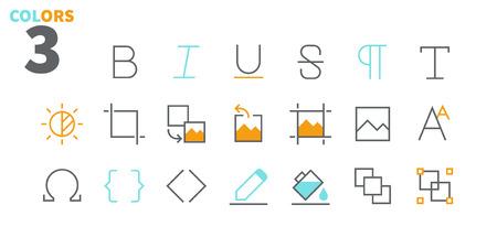 modifier texte pixel perfect tarifs vecteur mince ligne icons set prêt pour la page des panneaux de signalisation pour les sites web et applications avec le symbole de vecteur simple Vecteurs