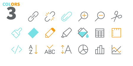 Edit text Pixel Perfect Well-crafted Vector Thin Line Icons 48x48 Ready for 24x24 Grid for Web Graphics and Apps with Editable Stroke. Simple Minimal Pictogram Ilustração