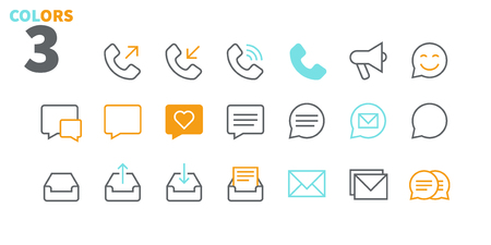 Communication Pixel Perfect Well-crafted Vector Thin Line Icons 48x48 Ready for 24x24 Grid for Web Graphics and Apps with Editable Stroke. Simple Minimal Pictogram