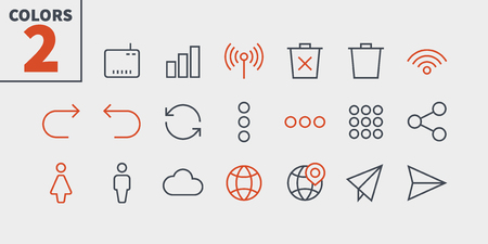 Communication Pixel Perfect Well-crafted Vector Thin Line Icons 48x48 Ready for 24x24 Grid for Web Graphics and Apps with Editable Stroke. Simple Minimal Pictogram Part 3-3 Çizim
