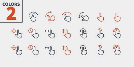 Gesture View Outlined Pixel Perfect Well-crafted Vector Thin Line Icons 48x48 Ready for 24x24 Grid for Web Graphics and Apps with Editable Stroke. Simple Minimal Pictogram Part 1-3  イラスト・ベクター素材