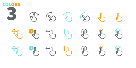 Gesture View Outlined Pixel Perfect Well-crafted Vector Thin Line Icons 48x48 Ready for 24x24 Grid for Web Graphics and Apps with Editable Stroke. Simple Minimal Pictogram Part 1-3 向量圖像