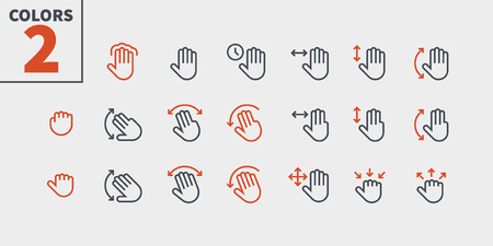 Gesture View Outlined Pixel Perfect Well-crafted Vector Thin Line Icons 48x48 Ready for 24x24 Grid for Web Graphics and Apps with Editable Stroke. Simple Minimal Pictogram Part 3-3
