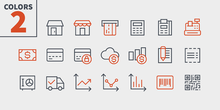 Shopping Pixel Perfect Well-crafted Vector Thin Line Icons 48x48 Ready for 24x24 Grid for Web Graphics and Apps with Editable Stroke. Simple Minimal Pictogram Part 1-2