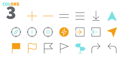 Location Pixel Perfect Well-crafted Vector Thin Line Icons 48x48 Ready for 24x24 Grid for Web Graphics and Apps with Editable Stroke. Simple Minimal Pictogram Part 4 Illusztráció