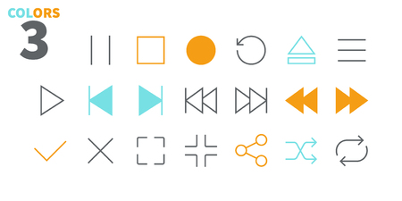 Audio Video Pixel Perfect Well-crafted Vector Thin Line Icons 48x48 Ready for 24x24 Grid for Web Graphics and Apps with Editable Stroke. Simple Minimal Pictogram Part 1 Illustration