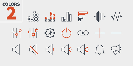 Audio Video Pixel Perfect Well-crafted Vector Thin Line Icons 48x48 Ready for 24x24 Grid for Web Graphics and Apps with Editable Stroke. Simple Minimal Pictogram Part 2 Reklamní fotografie - 99099684