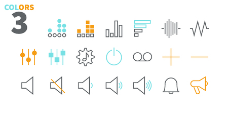 Audio Video Pixel Perfect Well-crafted Vector Thin Line Icons 48x48 Ready for 24x24 Grid for Web Graphics and Apps with Editable Stroke. Simple Minimal Pictogram Part 2