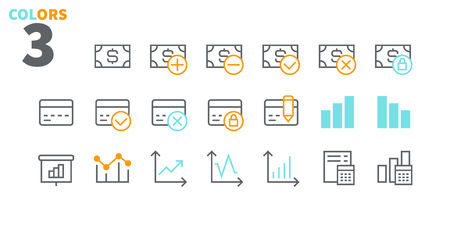 Financial Pixel Perfect Well-crafted Vector Thin Line Icons 48x48 Ready for 24x24 Grid for Web Graphics and Apps with Editable Stroke. Simple Minimal Pictogram Part 3