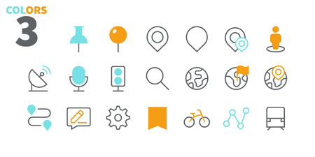 Location Pixel Perfect Well-crafted Vector Thin Line Icons 48x48 Ready for 24x24 Grid for Web Graphics and Apps with Editable Stroke. Simple Minimal Pictogram Part 1 Illustration