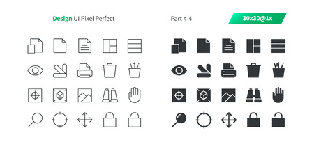Graphic Design UI Pixel Perfect Well-crafted Vector Thin Line And Solid Icons