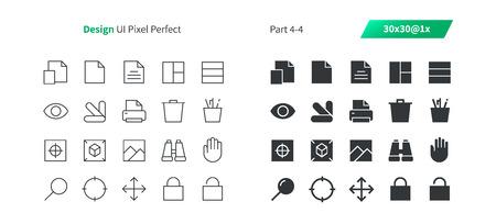 Grafisch ontwerp UI Pixel Perfect Goed gemaakte vector dunne lijn en solide pictogrammen