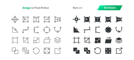 Graphic Design UI Pixel Perfect Well-crafted Vector Thin Line And Solid Icons.