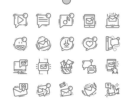 Unread messages Well-crafted Pixel Perfect Vector Thin Line Icons 30 2x Grid for Web Graphics and Apps. Simple Minimal Pictogram